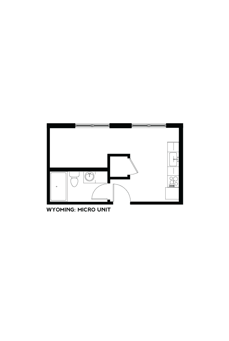 West Bottoms Flats - Wyoming Micro-Unit Floor Plan